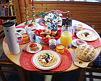 Breakfast at A Scandia Bed & Breakfast, Whitehorse